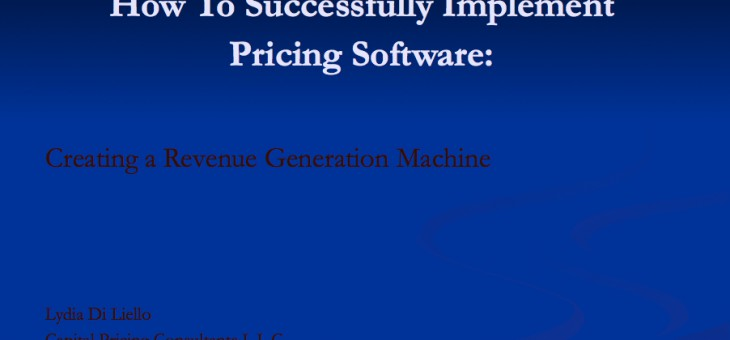 Pricing Software Presentation